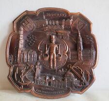 Wandteller_Hamburg_Andenken_Sehenswürdigkeiten Metall Teller