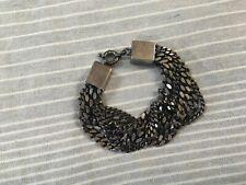 Burberry chunky bracelet multi chain gunmetal M