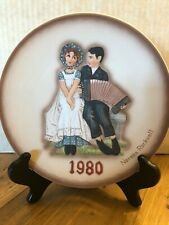 New ListingNorman Rockwell 1980 Second Limited Edition Annual Plate Lovers with Box