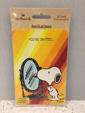 Vintage HALLMARK Snoopy Sealed Invites 6 Unused 18th Birthday