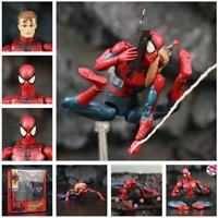 """Marvel The Amazing Spider-Man 6"""" Action Figure Mafex 075 Comic Ver. Peter Benjam"""