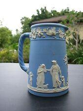 Lovely Vintage English Wedgwood Blue Jasperware Milk Pitcher