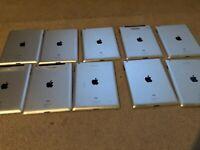 LOT OF 10 Apple iPad 2 16GB, Wi-Fi, 9.7in - Black (CA)-BROKEN