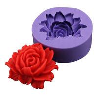 3D Silikon Rose Backform Zuckerfertigkeit C6M8