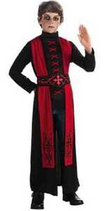 Deluxe Gothic Priest Boys Red Black Robe Costume, Rubies 881447