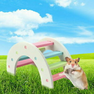 New Hamster Arch Bridge Colorful Cute Wood Chew Toy for Small Animal Cage