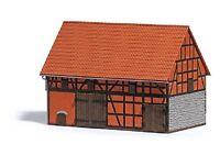 Busch 1506 - Bausatz H0 - Scheune mit kleinem Stall - NEU in OVP