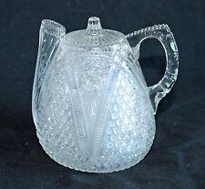 "EAPG U.S. Glass Company ""Massachusetts"" Rum Jug or Syrup Pitcher"