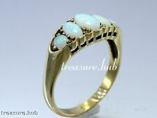 CR039 VINTAGE style Genuine 9K Gold SOLID Australian OPAL Bridge Ring in yr size
