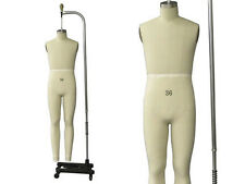 Professional Pro Working Male dress form,Mannequin,Full Size 36, w/Legs