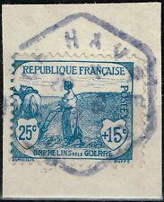FRANCE ORPHELIN N° 151 RARE OBLITERATION CACHET BUREAU ANNEXE BLEU LE HAVRE