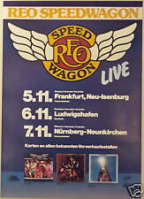 REO SPEEDWAGON CONCERT TOUR POSTER 1979 NINE LIVES
