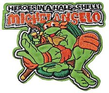 """Teenage Mutant Ninja Turtles Michelangelo Character 3"""" Tall Embroidered Patch"""