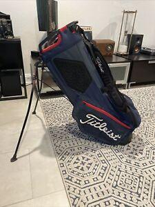 Titleist Hybrid 14 Stand Golf Bag 14-Way Divide Dual Strap Blue Red
