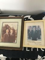 Vtg 80s Ronald Reagan Autograph Picture Lot White House Oval Office Capitol