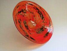 Signed PETER LAYTON British Studio Art Glass Bowl