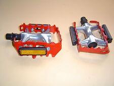 """Wellgo lu-954 aluminio pedales trekking ATB MTB 9/16"""" rojo nuevo"""