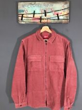 """Supreme Men's CORDURO Zip Shirt Top Rose Long Sleeve Sz L Brand New """"Sold Out"""""""