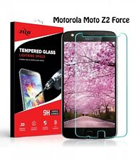 ZIZO Lightning Clear TEMPERED GLASS 33mm Screen Protector Motorola Moto Z2 Force