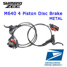 Shimano Zee BL-BR-M640 Disc Brake Hydraulic Set Metal Pads with Cooling Fins MTB