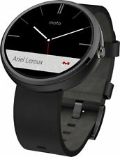 Motorola Moto 360 1st Gen Smartwatch Black Leather NEW