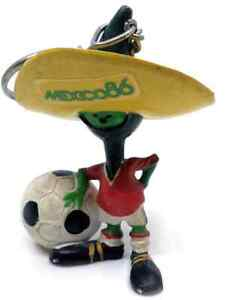 1986 FIFA World Cup MEXICO Official PIQUE MASCOT FIGURE KEYCHAIN Mexico86 NICE!!