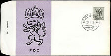 Belgium 1969 1f50 Lion Definitive FDC First Day Cover  #C21058