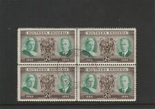 SOUTHERN RHODESIA - 1950 - DIAMOND JUBILEE 2d - BLOCK 4 - CTO STAMPS - ORIG. GUM