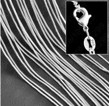 KETTE  Venezianerkette SILBER plattiert  Silberkette 45cm NEU