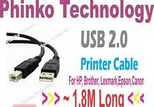 *NEW * USB Printer Cable for Canon, Epson, Brother..., Inkjet & Laser Printer *