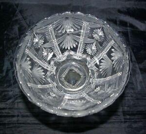 "Antique Victorian Pedestal Bonbon Dish 19th C Pressed Glass Comport Bowl 5.5"""