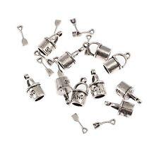 Bucket Spade Beach Toy Beads Tibetan Silver Charms Pendant Bracelet 16*7mm 10pcs