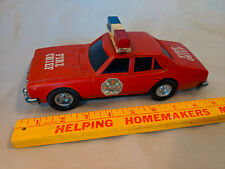 1970s Arco Hong Kong Toy Friction Car Fire Chief Siren Sound Diecast Police