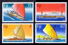 Fiji 1977 MNH 4v, Canoes, Ships and Boats, Transport
