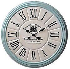 "Colossal Sized Retro Shabby Chic Wall Clock. 80cm Diameter (31"" +) 7256"