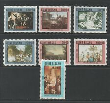 Thematic Stamps Art - GUINEA BISSAU 1989 PHILEXFRANCE PTGS 1135/41 7 mint