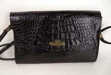 VINTAGE BLACK CROCODILE PRINT LEATHER BAG SHOULDER THE CAMBRIDGE