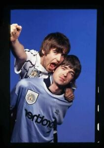 OASIS Noel Liam Gallagher Brothers 1990s Manchester City shirt 35mm Transparency