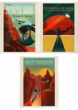 SPACE X MARS TRAVEL ADVERT PACK 3 POSTERS 12 x 16 '' ART PRINT HP3846