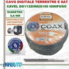 25 Mt CAVO TV & SAT CAVEL DG113ZH DIAMETRO 6,6mm DIGITALE TERRESTRE COASSIALE HD