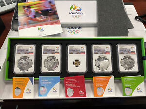 Brazil 2015 Gold/Silver 5 Coin Proof Set NGC PF70UC Rio 2016 Olympics Series 3