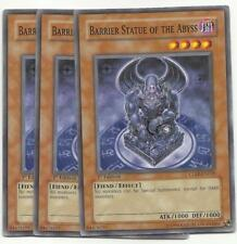YUGIOH 3X Barrier Statue of the Abyss - CDIP-EN018 1ST ED COMMON PLAYSET NEW!*