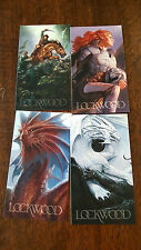 2016 SDCC COMIC CON TODD LOCKWOOD PROMO CARD LOT OF 4 DUNGEONS & DRAGONS