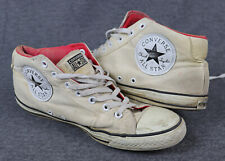 Converse All Star Chuck, talla 46,5, UK 12, beige, canvas/lona, used