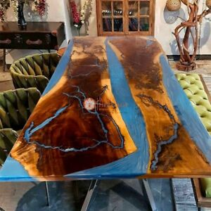 Epoxy Table Top, Resin Table Top, Dining Table Top, Chestnut Table Acacia Wooden