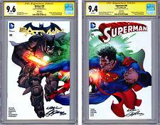 BATMAN #50 & SUPERMAN #50 CGC-SS 9.6-9.4 *NEAL ADAMS INTER-CONNECTING CVRS* 2016