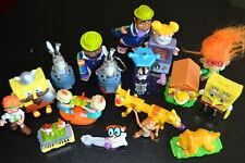 Lot of 17  BURGER KING TOYS   Kids giveaways promotions   FAST FOOD  SpongeBob