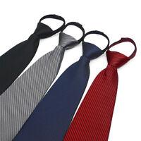 10*48cm Men Loafer Zipper Wide Necktie Solid Casual Business Wedding Neck Tie