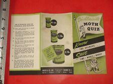 JB283 Vintage Brochure Ad Di-Chloricide Moth Quiz Merck & Co Inc