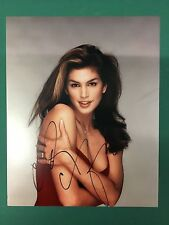 CINDY CRAWFORD LINGERIE AND SWIMSUIT MODEL AUTOGRAPHED PHOTO SIGNED 8X10 #7